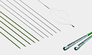 Springs and spring coils for guide wires for medical applications